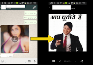 How To send Fack Thumbnail MSG in Whatsapp
