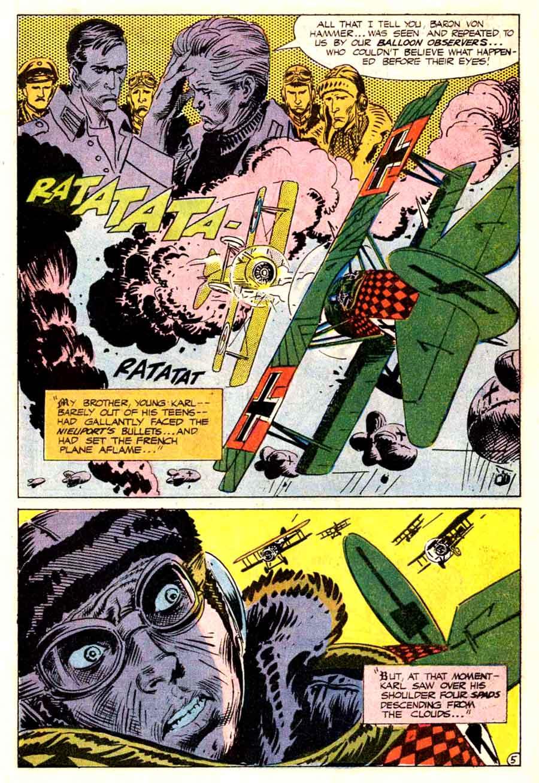 Star Spangled War v1 #141 enemy ace dc comic book page art by Joe Kubert