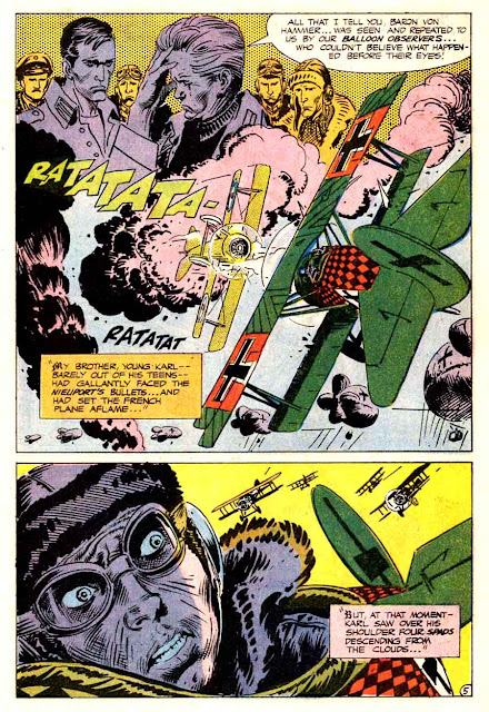 Star Spangled War v1 #141 enemy ace dc comic book page art by Joe Kubert