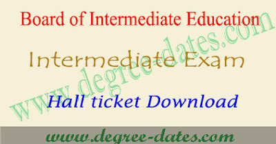 TS intermediate hall tickets 2018 hall ticket number telangana