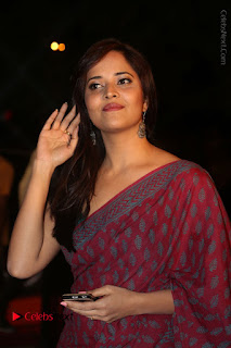 Telugu Television Anchor Anasuya Stills in Saree at Gemini TV Puraskaralu 2016 Event  0046.JPG
