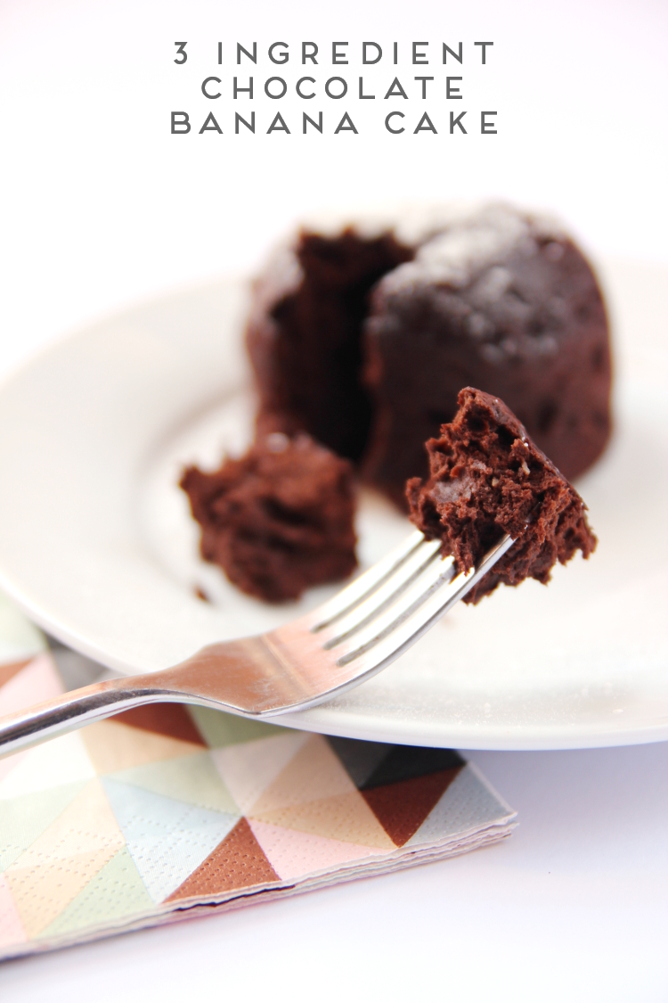 SATISFY YOUR SWEET TOOTH WITH THIS 3 INGREDIENT GLUTEN AND DAIRY CHOCOLATE AND BANANA CAKE