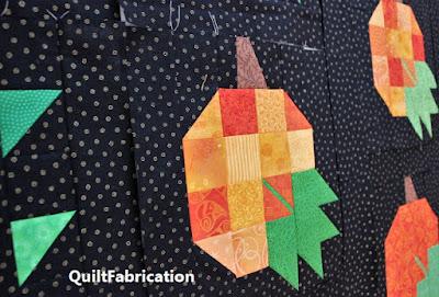 pumpkin harvest blocks by QuiltFabrication