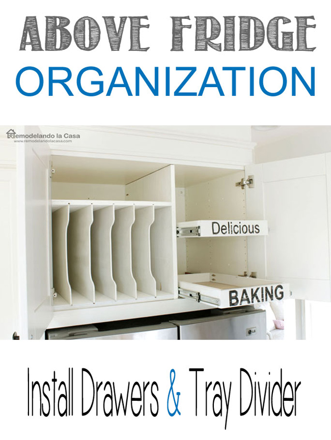 kitchen organization with diy drawers and tray divider
