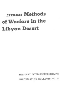 German Methods of Warfare in the Libyan Desert