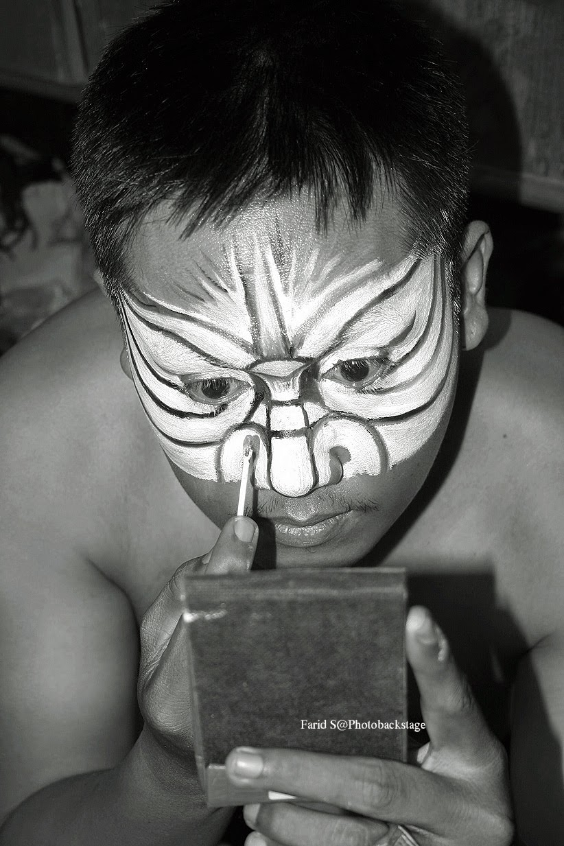 foto make up di Wayang Orang Bharata