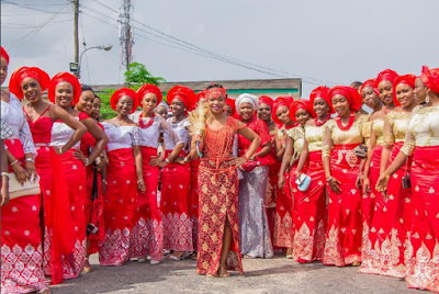Check Out This First Class Aso Ebi Styles For Igbo Traditional Marriage  [photo] - Celebrities - Nigeria
