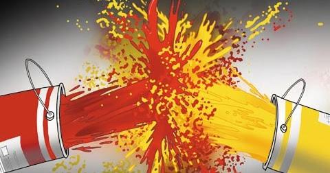 Resultado de imagem para vermelhos e amarelos charge