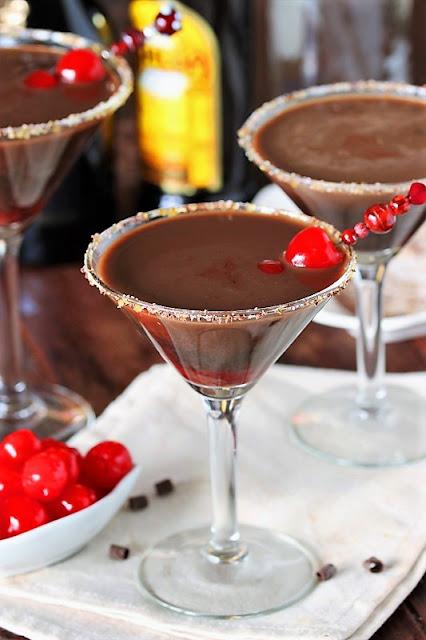 Chocolate Covered Cherry Martinis Image