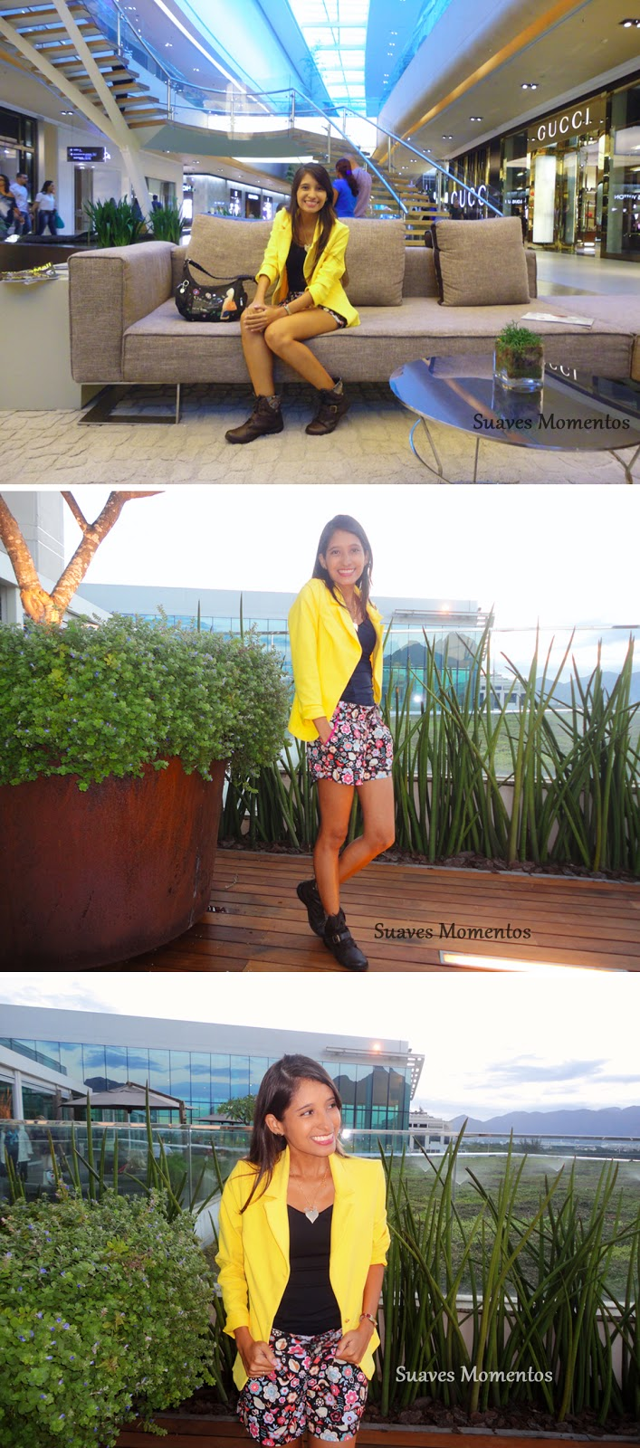 Look do dia, blazer amarelo