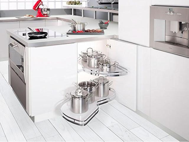Herrajes extraible Le Mans para armario de rincón cocina