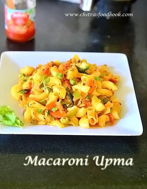 macaroni upma recipe