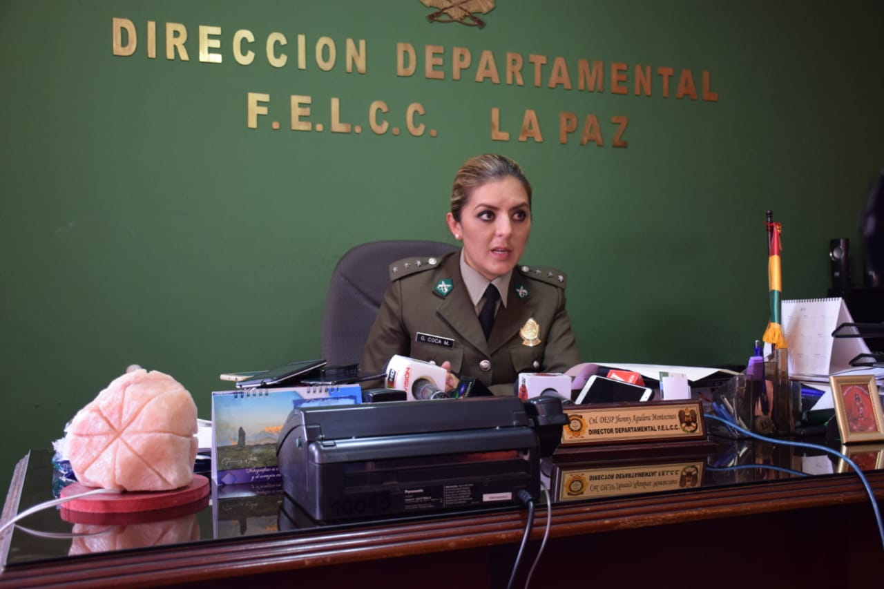 Coca encabeza los operativos de intervención a lenocinios en El Alto y La Paz / ÁNGEL SALAZAR