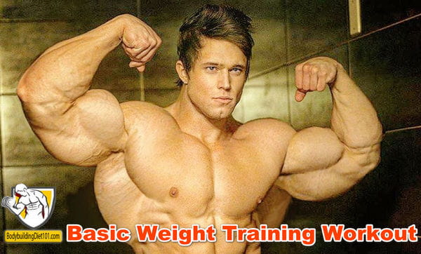 This basic weight training workout is a good starting point for anyone who is ready to begin serious bodybuilding
