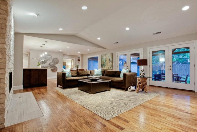 Hardwood Carpet in a Living Room