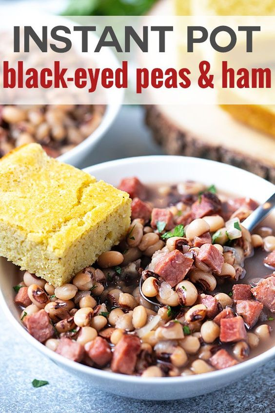 INSTANT POT BLACK-EYED PEAS AND HAM #Instantrecipe #Instan #Easyrecipe #Pot #blackeyed #Peas #HAM #Dinnerrecipe