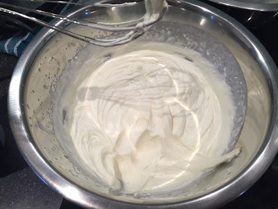 Whipped Cream in a silver bowl