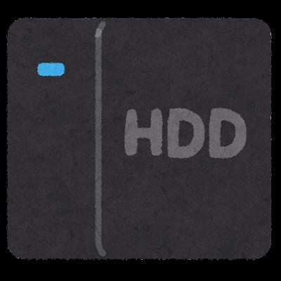 外付けハードディスクのイラスト