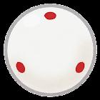 ビリヤードボールのイラスト(白・赤)