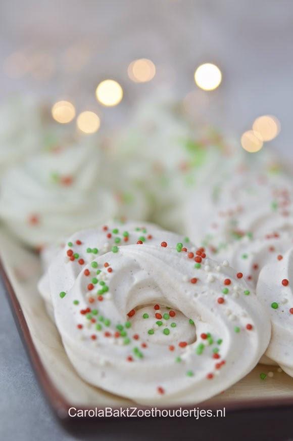 kerstkransjes en kerstbomen van Dr. Oetker merengue mix
