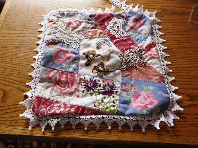 Lace Crazy Crazy Quilt Pillows