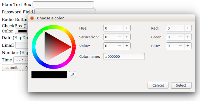 html input color