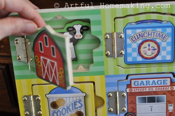 Fine Motor Coordination: Keeping Little Ones Hands Busy. puzzle with doors to open