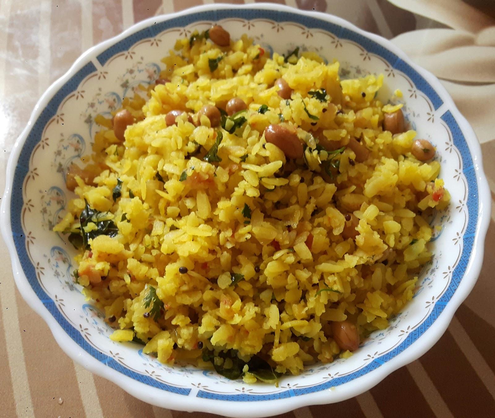 Amrozia Authentic Food Recipes : Kanda Poha Recipe - Authentic