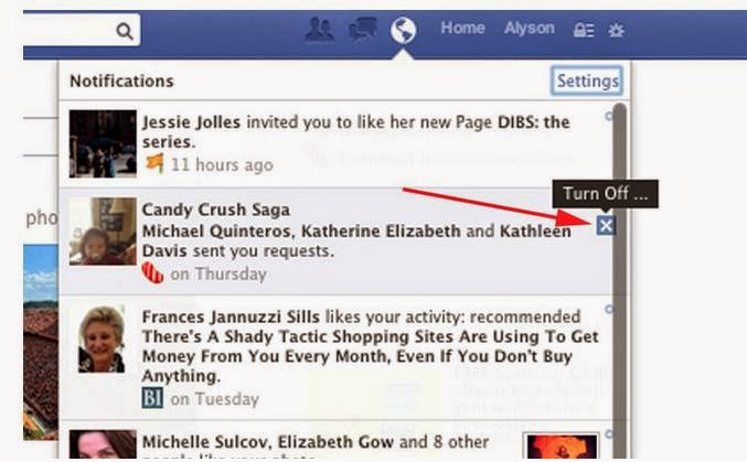Permanently Block All 'Candy Crush Saga' Notifications On Facebook in Easy Way