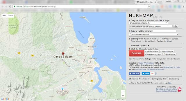 Leo-tutafanya-majaribio-kupitia-tovuti-ya-Nuclear-Secrecy-ambayo-inakupa-uwezo-wa-kulipua-sehemu,-jiji-au-nchi-yoyote-ile-Duniani-kwa-bomu-la-nuklia.
