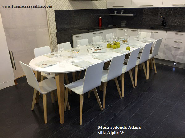 Mesas de cocina y comedor - Mesa cocina redonda extensible ...