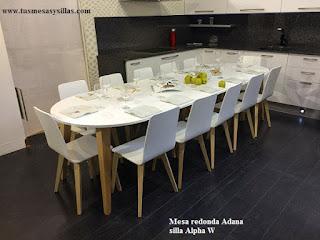 Mesa redonda superextensible Adana hasta 3 metros, 12 personas