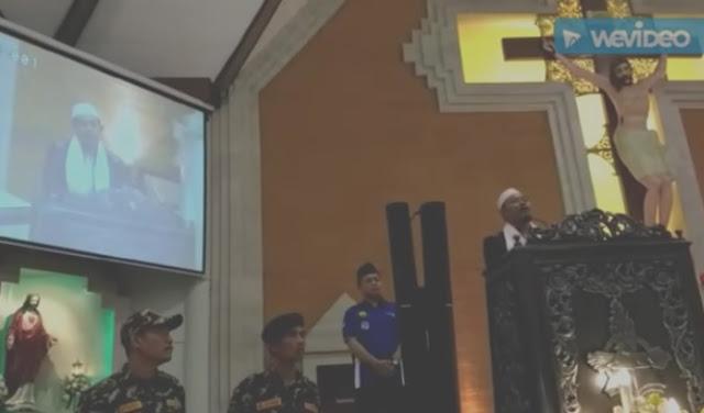 Gus Nizam ucap puji Tuhan di Gereja