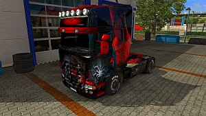 The Amazing Spider-Man V8 skin for Scania RJL