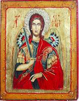 Sfantul Arhanghel Mihaiil, icoana pe lemn