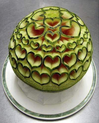 hearts all over the watermelon art