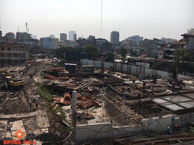 Cập nhật tiến độ thi công dự án Imperial Plaza
