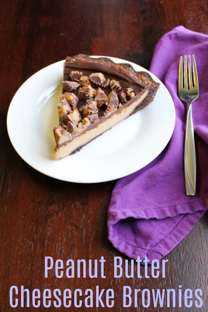 If you are a chocolate and peanut butter lover, this is for you. Rich chocolaty brownie peanut butter cheesecake goodness should be on your must make list.