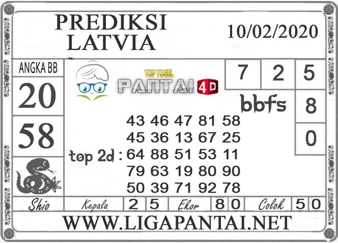 PREDIKSI TOGEL LATVIA PANTAI4D 10 FEBRUARI 2020