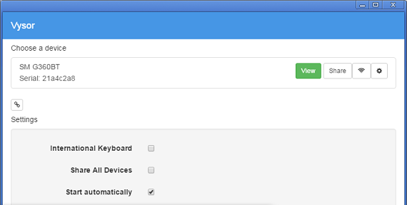 Vysor controlar e espelhar Android pelo PC