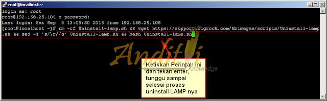 Langkah mudah Untuk Uninstall LAMP di Centos 7_anditii.web.id