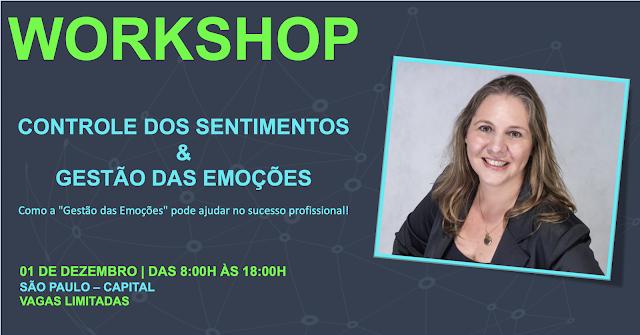 #luseluque Luciana Seluque Workshop CONTROLE DOS SENTIMENTOS & GESTÃO DAS EMOÇÕES