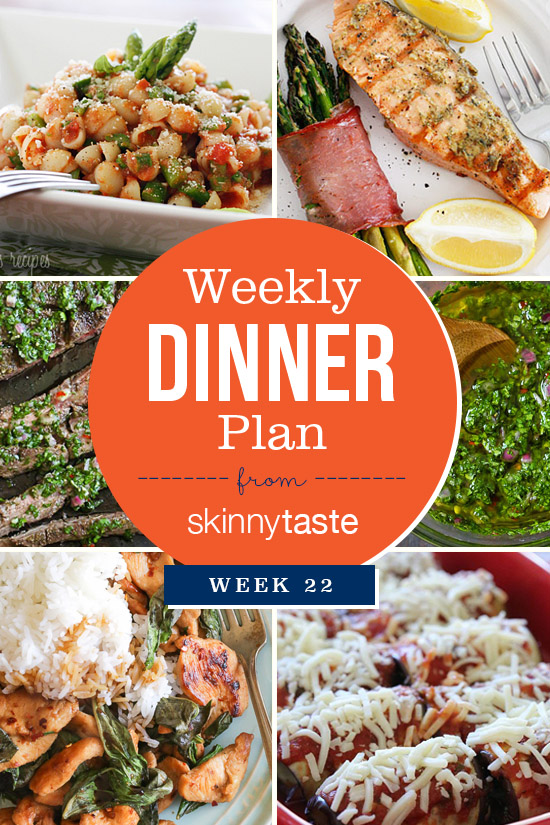 Skinnytaste Dinner Plan (Week 22)