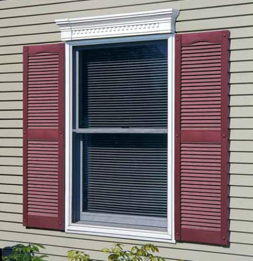 Exterior Shutters: Wood Window Shutters: How To Install Vinyl Shutters And