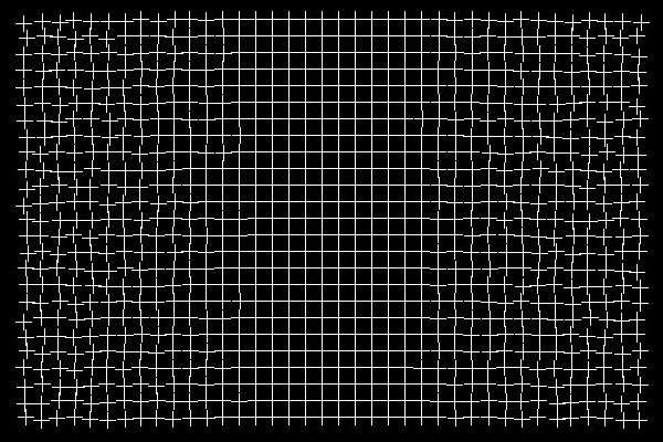 Baktıkça bozuk çizgileri düzelen ızgara şeklinde göz yanılması resmi
