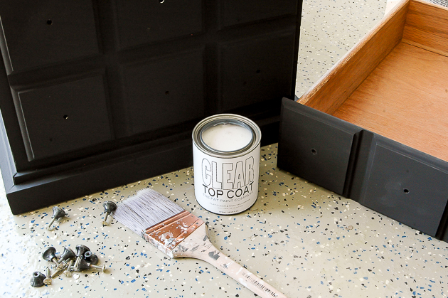 Adding clear coat to painted side table