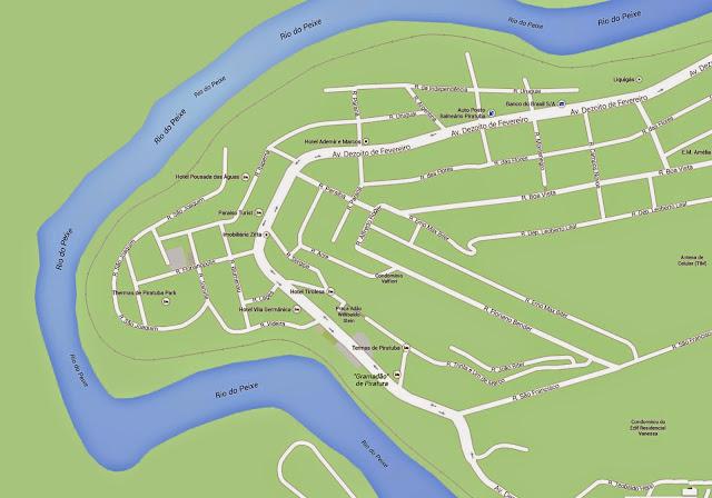 Mapa do centro de Piratuba