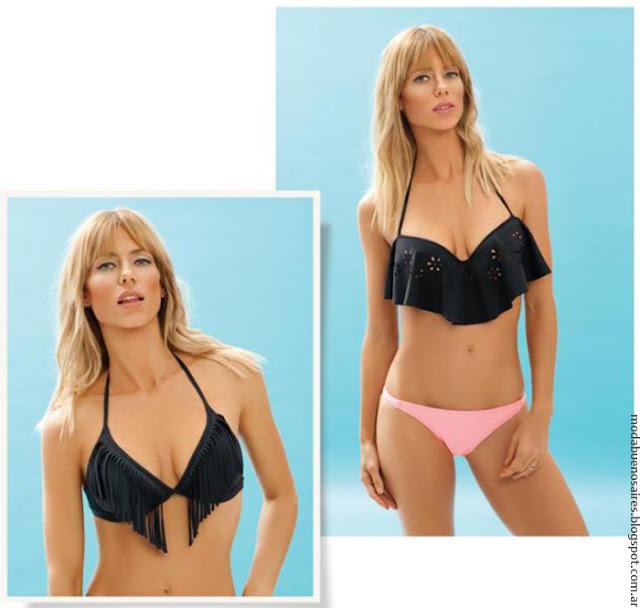 Bikinis verano 2017. Moda verano 2017. Bikinis 2017 con flecos Mora.