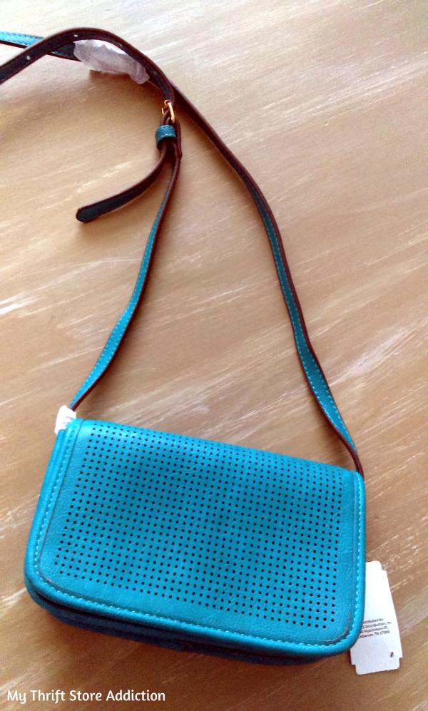 turquoise cross body bag