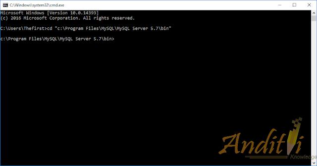 Cara Mengoperasikan MySQL Client Menggunakan CMD-anditii.web.id